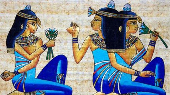 Hoa sen xanh thường được người Ai Cập dâng lên nữ thần Hathor.