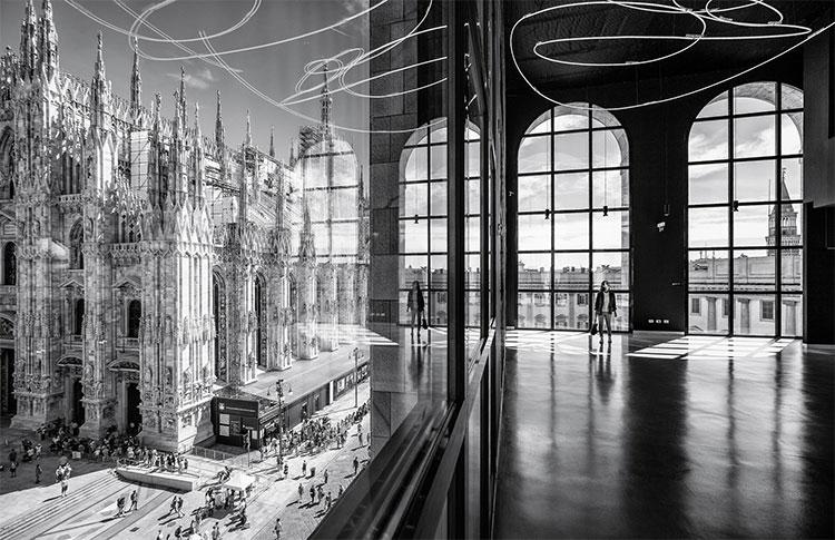 Hình ảnh quảng trường Vương cung thánh đường Piazza Duomo, khu phức hợp bảo tàng nghệ thuật Palazzo dell'Arengario tại Milan