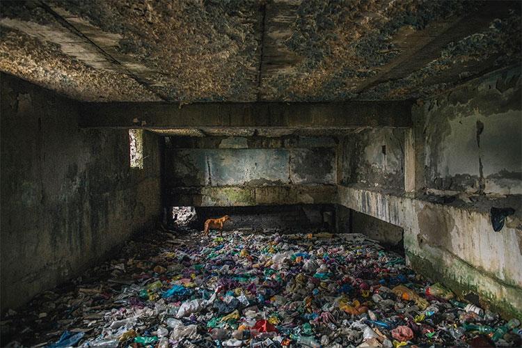 Hình ảnh một nhà điều dưỡng bỏ hoang thuộc Cộng hòa Georgia cũ của Liên Xô Cũ