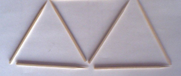 Bỏ đi hình tam giác nhỏ trên đỉnh