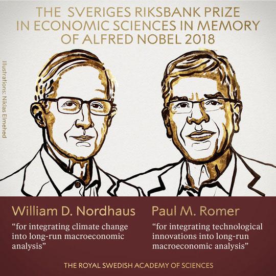 Hai người đạt giải Nobel Kinh tế.