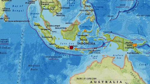 Động đất xảy ra ngoài khơi đảo Java và Bali của Indonesia sáng 11/10.