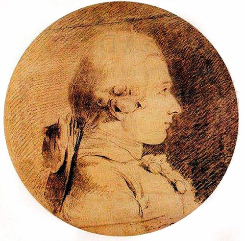 Bức phác họa chân dung của Hầu tước de Sade