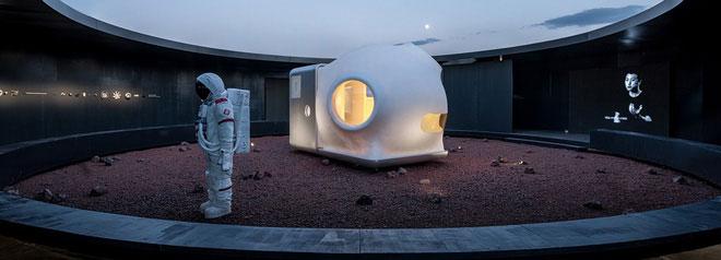 Ngôi nhà trên sao Hoả đã được đưa tới dự buổi triển lãm tại Bắc Kinh, Trung Quốc.