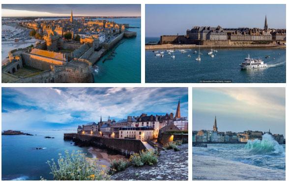 Thị trấn Saint-Malo xinh đẹp.