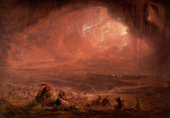 Tranh mô tả thảm họa núi lửa Vesuvius của John Martin.