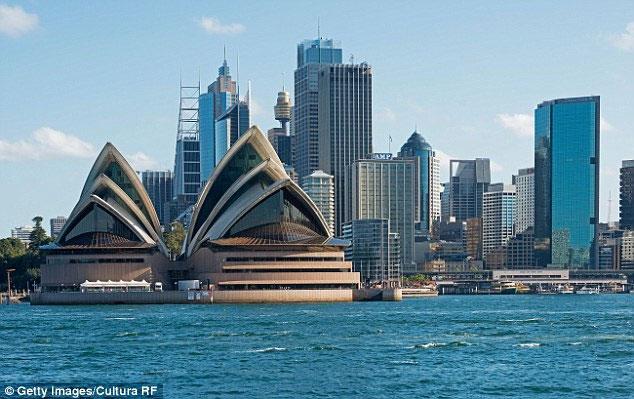 Thành phố Sydney của Úc.