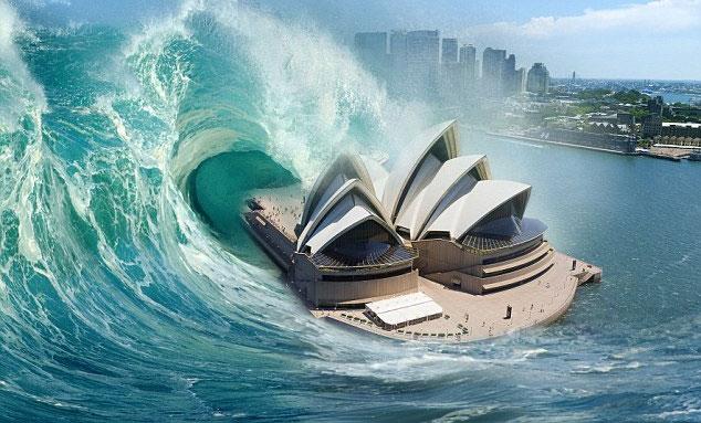 Sóng thần cao 60m có thể tấn công Úc bất cứ lúc nào.