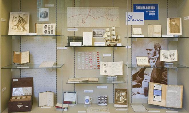 Bảo tàng trưng bày những công trình của Darwin.