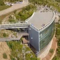 Bảo tàng rộng 800m2 trên đỉnh vách núi Trung Quốc