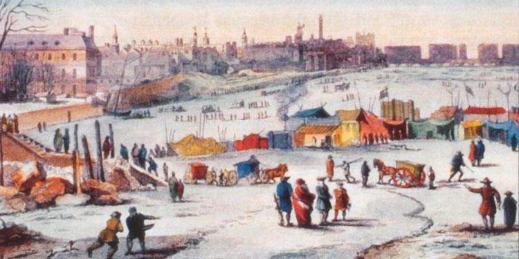 Thời kỳ tiểu băng hà, nhiệt độ giảm mạnh đột ngột khiến cả Tây Âu chìm trong lạnh giá.