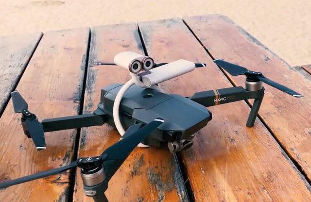 Hoặc có thể gắn lên trên drone để chụp được các bức ảnh trên cao