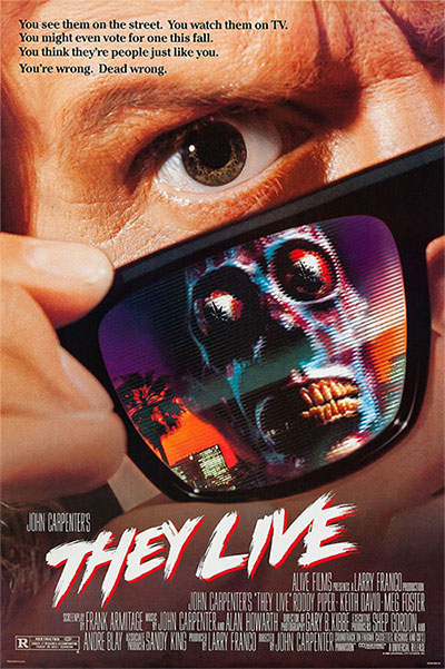 Poster bộ phim They Live năm 1988.