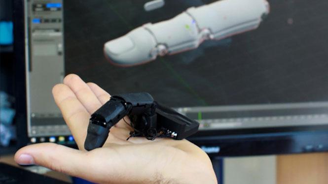 Robot ngón tay có kích cỡ không khác nhiều so với ngón tay bình thường.
