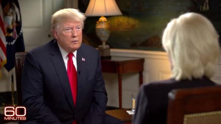 Ông Trump trong cuộc phỏng vấn với chương trình 60 Minutes của đài CBS mới đây.