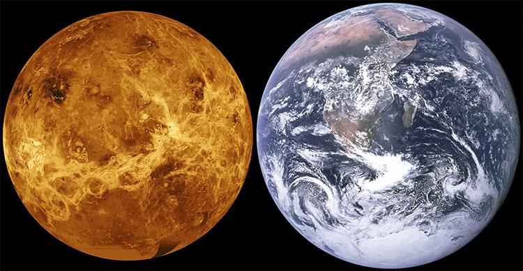 Tầng khí quyển phía trên của sao Kim lại là tầng giống với khí quyển Trái Đất nhất trong cả hệ Mặt Trời.