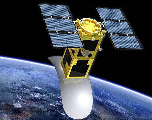 """Hình ảnh mô phỏng vệ tinh LOTUSat-1 mà Dự án """"Phòng chống thiên tai và biến đổi khí hậu sử dụng vệ tinh quan sát trái đất"""" sẽ chế tạo"""