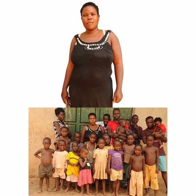 Chưa đến 40 tuổi, Mariam đã cho ra lò 44 người con.