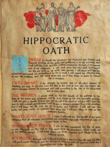 Lời tuyên thệ Hippocrates.