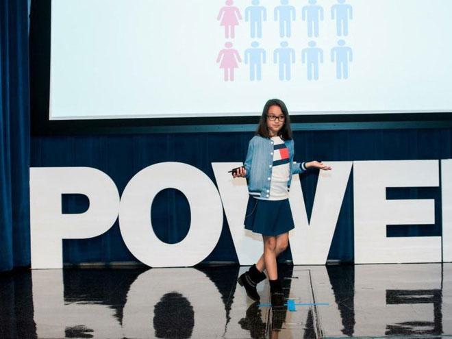 Samaira Mehta tại một trong những hội thảo của Google.