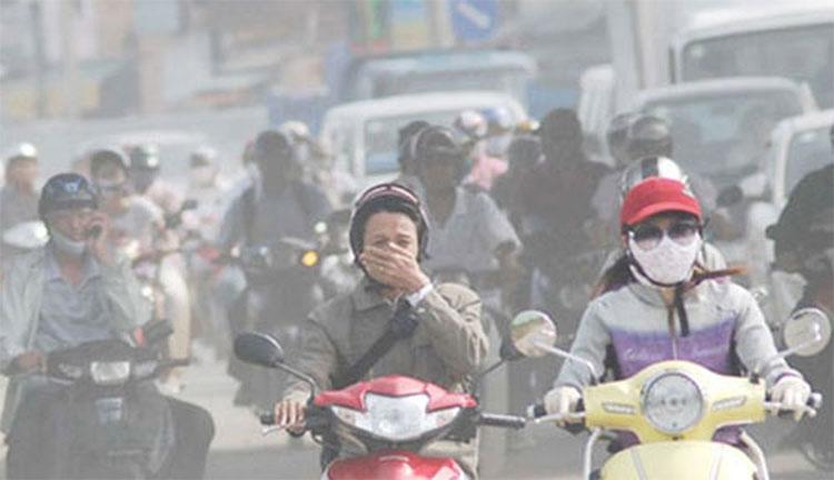 Ô nhiễm không khí gây ra nhiều bệnh lý đường hô hấp.