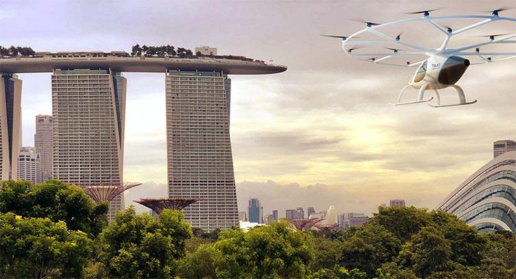 Singapore là đối tác tiếp theo của hãng taxi bay Volocopter.