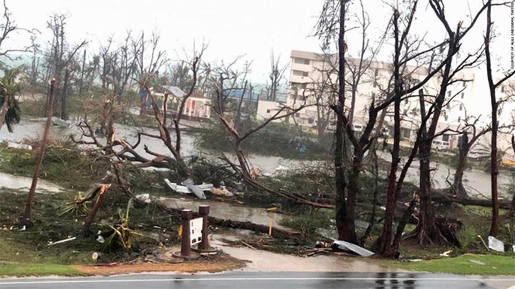 Đảo Tinian là một trong những khu vực bị ảnh hưởng nghiêm trọng nhất.