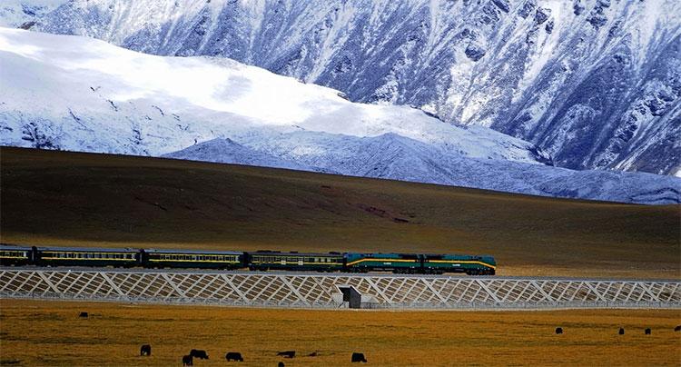 Tuyến đường sắt cao nhất thế giới đang thuộc về tuyến Thanh Hải - Tây Tạng của Trung Quốc.