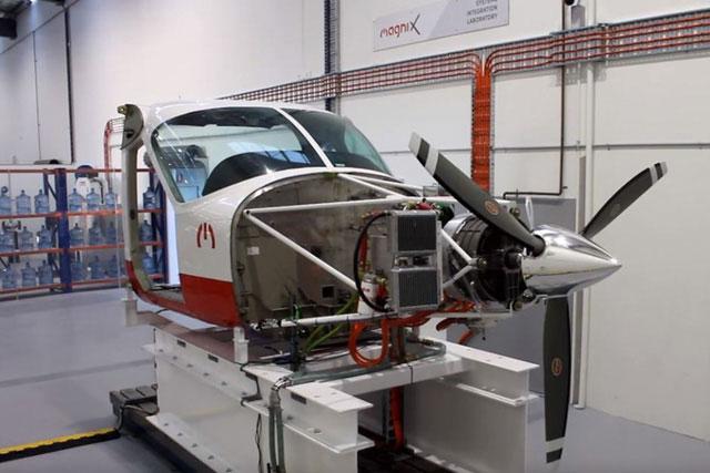 Một phần của loại máy bay điện đang được MagniX thử nghiệm tại Australia.
