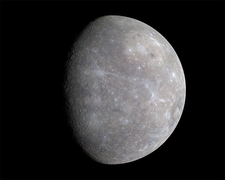 Ảnh màu sao Thủy chụp bởi MESSENGER.