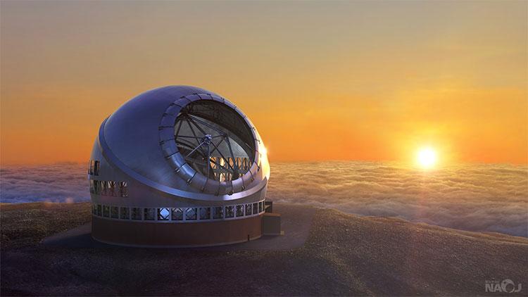 Kính TMT dự kiến được đặt ở độ cao 4.050m trên ngọn núi lửa Mauna Kea.