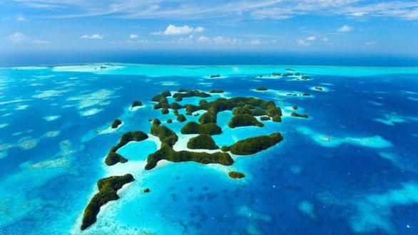 Đất nước Palau từ trên cao
