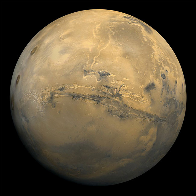 Sao Hỏa chụp bởi tàu quỹ đạo Viking 1 năm 1980.