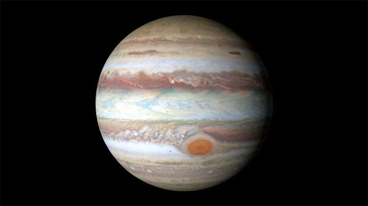 Sao Mộc là hành tinh lớn nhất trong Hệ Mặt Trời.