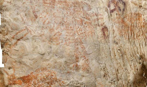 Bất ngờ bức tranh lâu đời nhất thế giới phát hiện tại hang động... Indonesia  - KhoaHoc.tv
