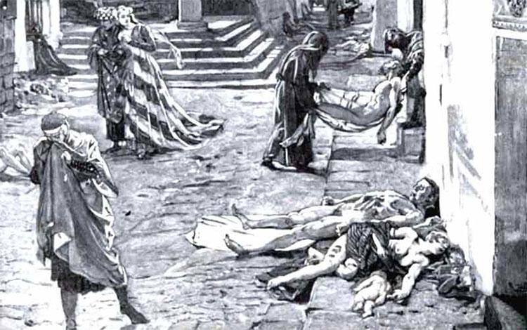Người xưa biết rằng tử thi là nguồn bệnh nên người ta đã sử dụng tử thi làm vũ khí.