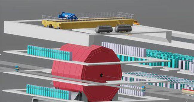 Một trong hai thiết kế của máy gia tốc hạt CEPC.