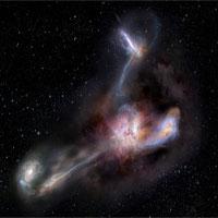 """Thiên hà sáng nhất vũ trụ """"ăn thịt"""" ba đồng loại"""