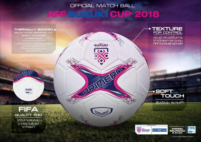 Trái bóng chính thức tại AFF Cup 2018 do một nhà sản xuất Thái Lan thực hiện.