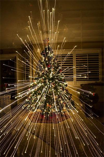 Tạo hiệu ứng để có được một cây thông Noel kỳ diệu.