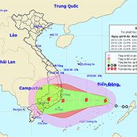 Chiều nay, áp thấp nhiệt đới đã mạnh lên thành bão - cơn bão số 9 trong năm nay