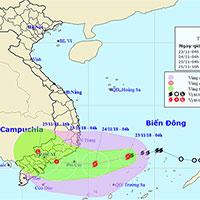 Cơn bão số 9-Usagi mạnh dần lên, gió giật lên tới cấp 12