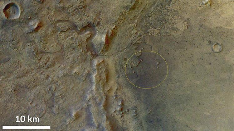 Jezero Crater là điểm hạ cánh dự định của thiết bị thăm dò trị giá 2,5 tỉ USD mang tên Mars 2020.