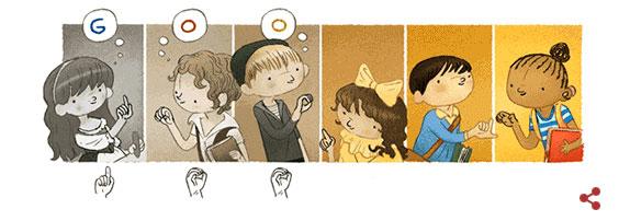 Google thay đổi doodle để tôn vinh Charles Michèle de l'Epée.