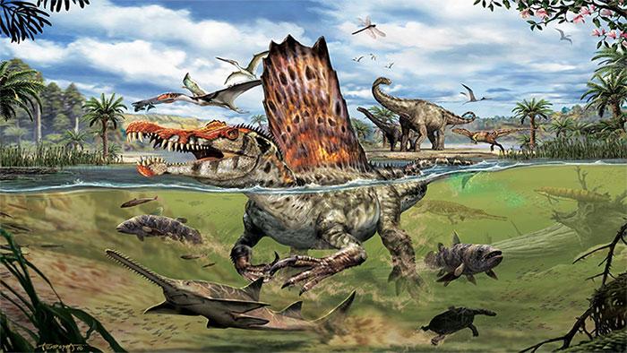 Nếu Spinosaurus đang nổi lềnh phềnh trên mặt nước, thì đến cả gió cũng trở thành mối phiền hà.