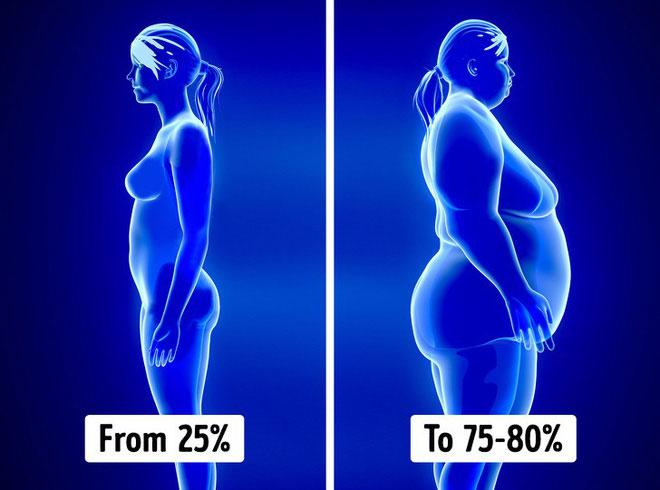 Rủi ro về béo phì sẽ được chia đều cho bộ gene của cả bố lẫn mẹ.