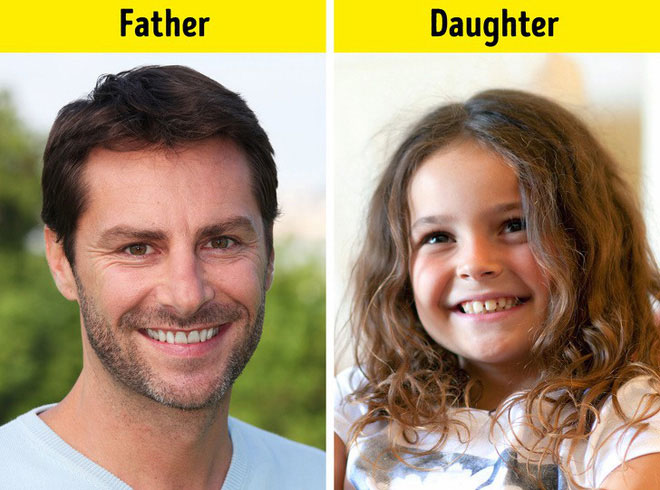 Gene về răng của bố thường trội hơn và các tính trạng ấy cũng di truyền xuống người con.