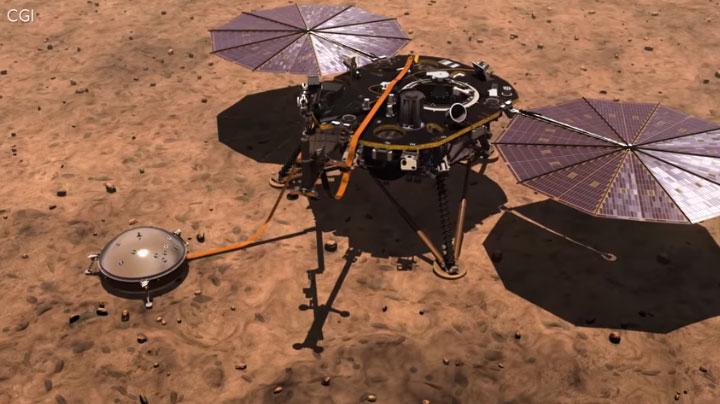 Tàu Insight sẽ nghiên cứu cấu tạo sao Hỏa.