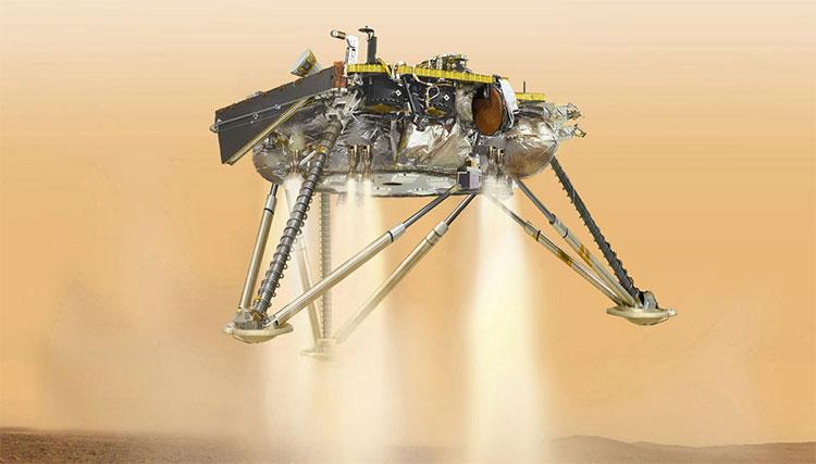 Tàu vũ trụ Mỹ NASA mang tên InSight đã thành công hạ cánh trên sao Hỏa hôm 26/11