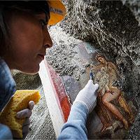 """Italia: Tìm thấy bức tranh La Mã cổ về chủ đề """"phong the"""" tại Pompeii"""
